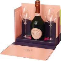 Laurent-Perrier Cuvee Rose Brut + 2 glasses 750 ml