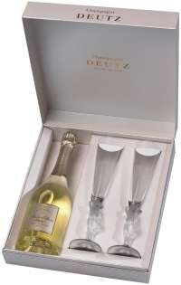 Amour de Deutz Brut Blanc 2005 gift box with 2 crystal glasses 750ml
