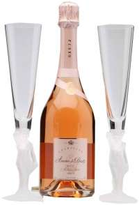 Amour de Deutz Brut Rose 2008 gift box with 2 crystal glasses 750ml