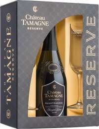 Chateau Tamagne Reserve Extra Brut gift box with 2 glasses  750 ml