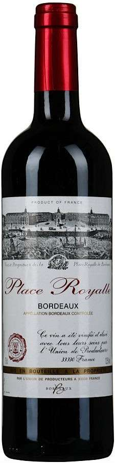 Union de Producteurs de Saint-Emilion Place Royalle Rouge Bordeaux AOC 750 ml