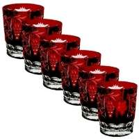 "Ajka Crystal ""Grape"" 390 ml, set 6 pcs, темно-бордовый"