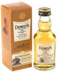 Dewar's 12 years old in box 50 ml