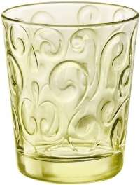 "Bormioli Rocco ""Naos"" Glass Water Candy Lime, Set 3 pcs"