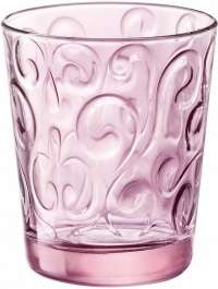 "Bormioli Rocco ""Naos"" Glass Water Candy Pink, Set 3 pcs"