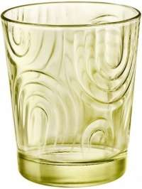 "Bormioli Rocco ""Arches"" Glass Water Candy Lime, Set 3 pcs"